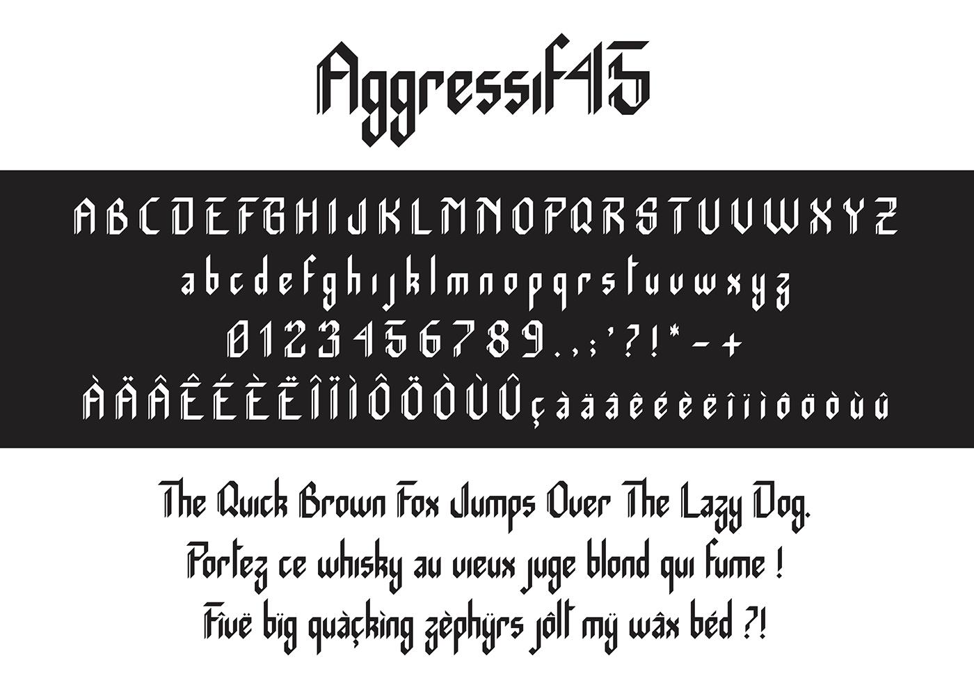 Aggressif哥特英文字体免费下载