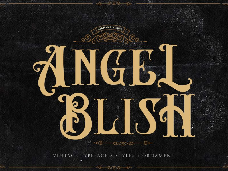 AngeLBilsh哥特个性英文字体免费下载