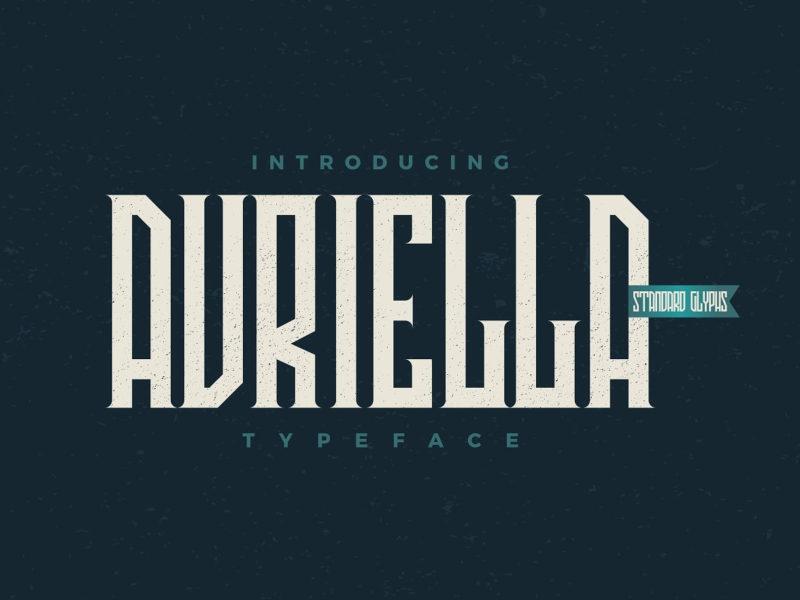 Avriella哥特个性力量运动动感英文字体免费下载