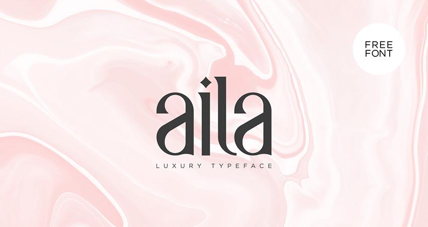 aila衬线设计排版logo英文字体下载