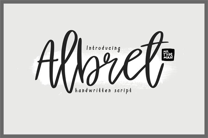 albret手写连笔网红签名艺术字体免费下载