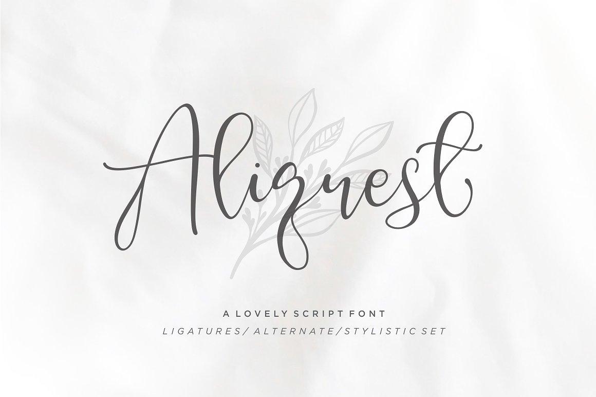 aliquest花体连笔英文字体免费下载
