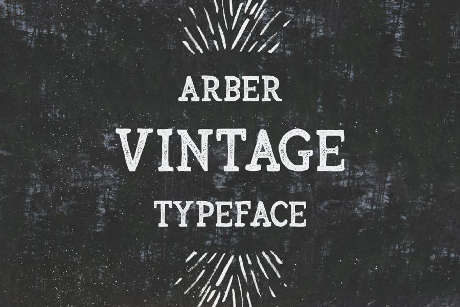 arber复古衬线英文字体免费下载
