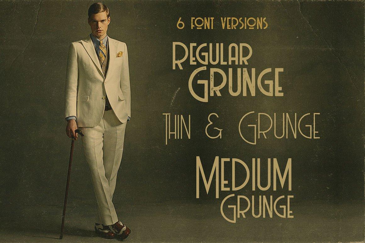 Billionaire Medium Grunge美式传统20世纪无衬线英文免费字体下载